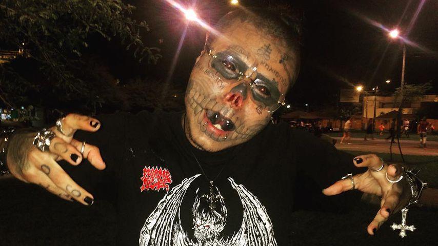 Für Totenkopf-Look: Mann lässt sich Nase & Ohren abschneiden