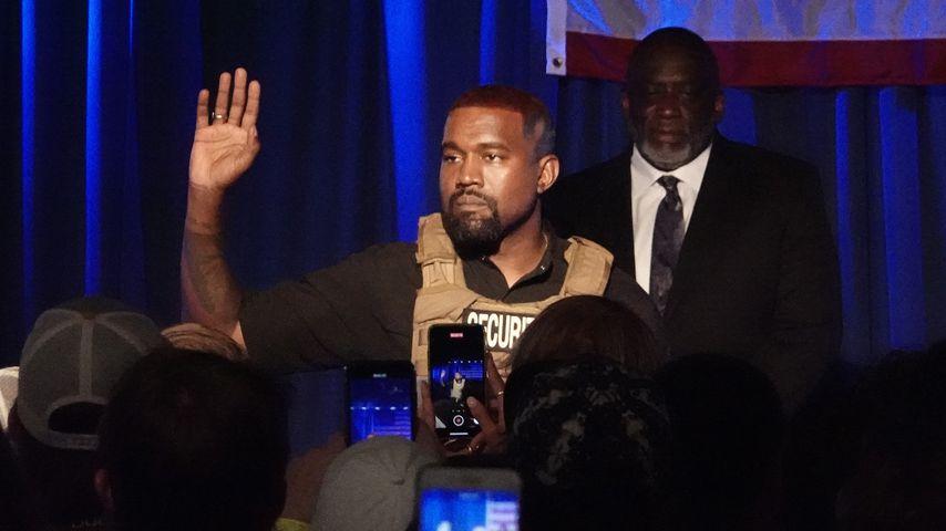 Kanye West bei seinem ersten Wahlkampfauftritt in South Carolina im Juli 2020