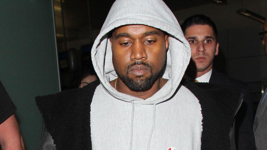 Kanye West am Flughafen Los Angeles
