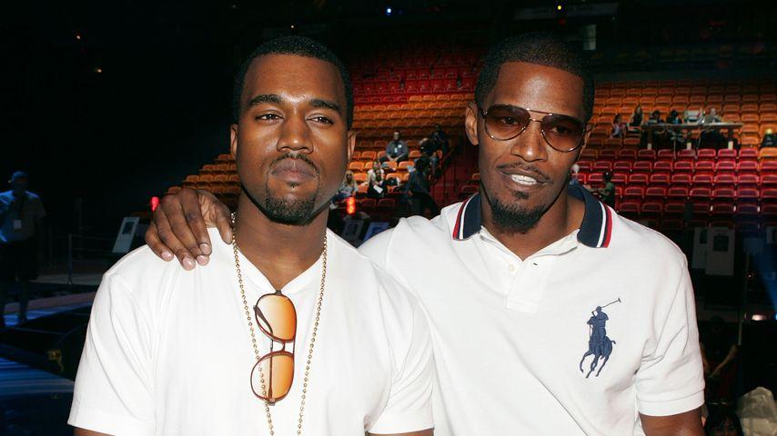 Kanye West und Jamie Foxx im Jahr 2005
