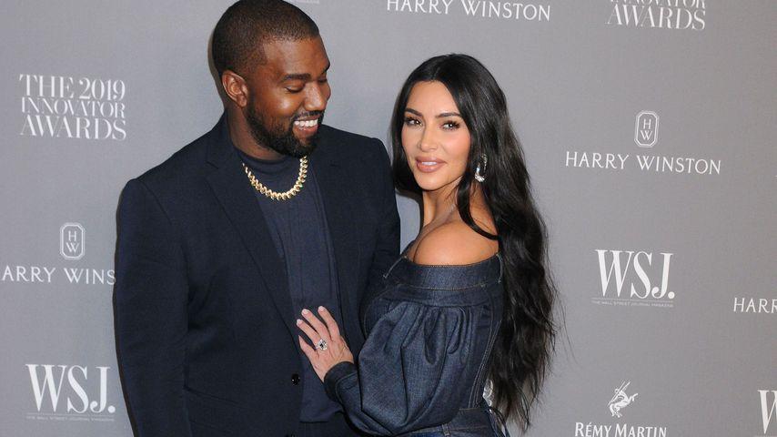 Kanye West und Kim Kardashian in New York