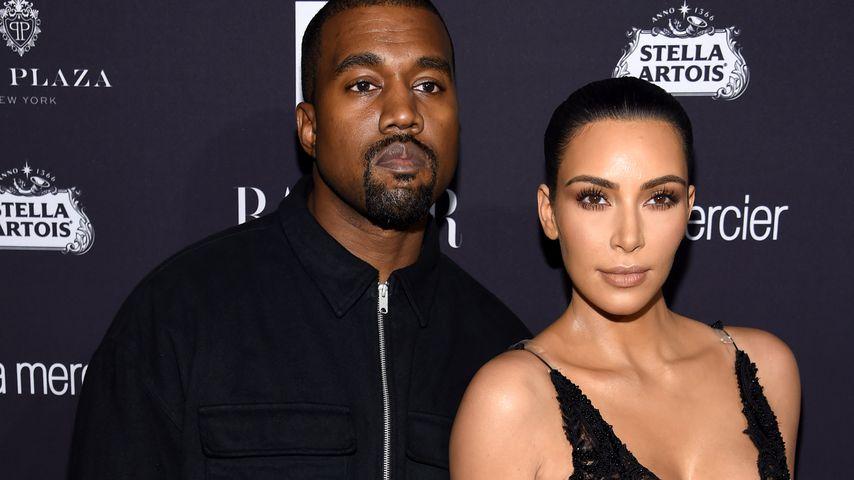 Kanye West und Kim Kardashian bei einer Feier von Harper's Bazaar