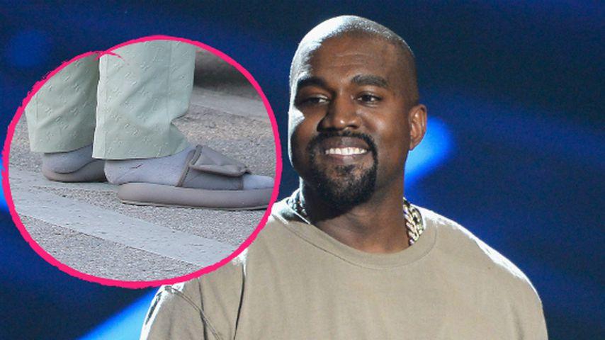 Kanye West erklärt seinen Mini-Schlappen-Fail bei Hochzeit!