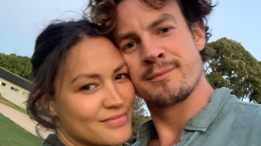 Kara Wilson und Luke Cook im Oktober 2020