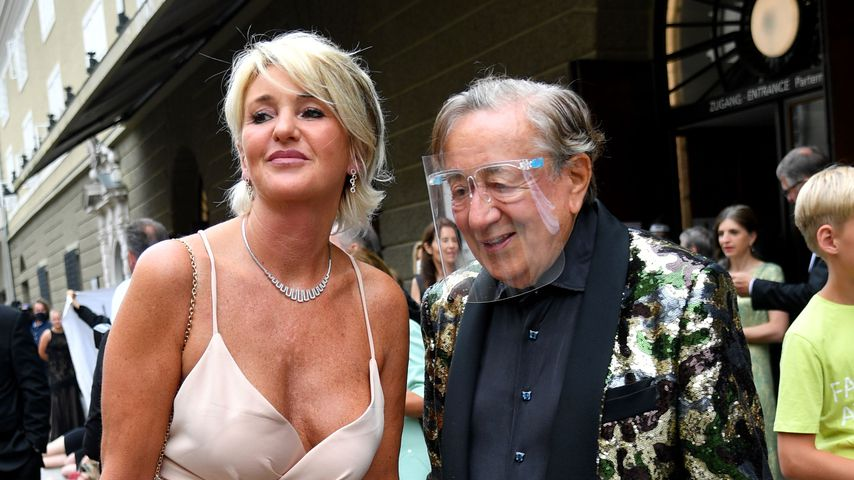 Karin Karrer und Richard Lugner in Salzburg, August 2020