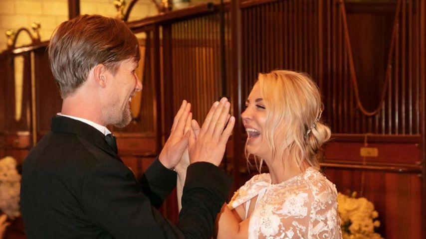 Karl Cook und Kaley Cuoco bei ihrer Hochzeit, 2018