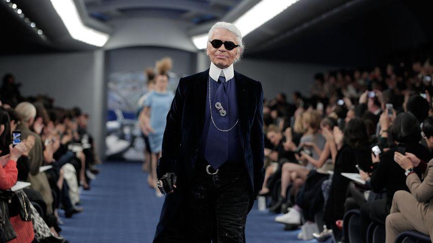 Karl Lagerfeld bei einer Chanel-Show, 2012