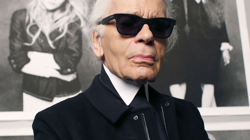 Karl Lagerfeld im Grand Palais in Paris im November 2012