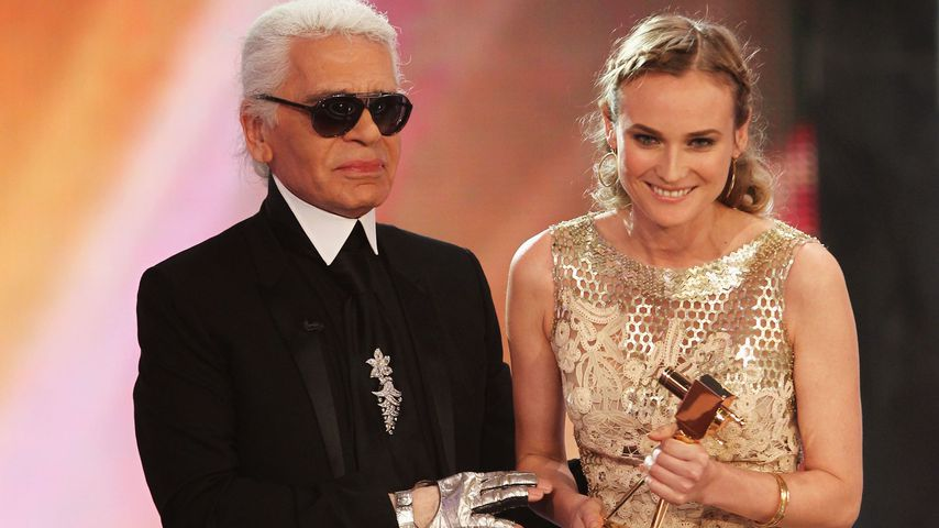 Karl Lagerfeld und Diane Kruger bei der Goldenen Kamera 2010 in Berlin