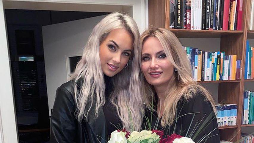 Kasia Lenhardt mit ihrer Mama Adrianna