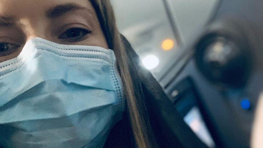 Kate Hudson im Flugzeug im Februar 2020