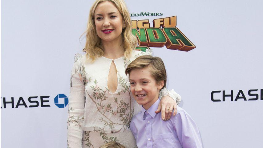 Kate Hudson mit ihren Söhnen Ryder Robinson und Bingham Hawn Bellamy