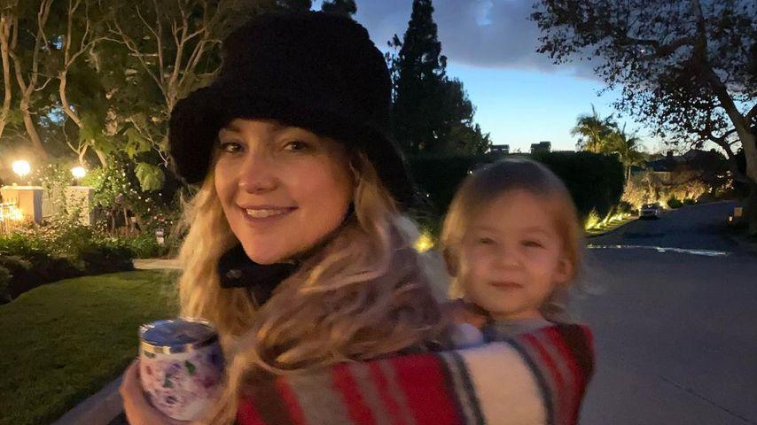 Huckepack: Kate Hudson teilt süßes Foto mit ihrer Tochter