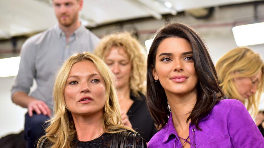 Kate Moss und Kendall Jenner bei der Fashionshow von Longchamp