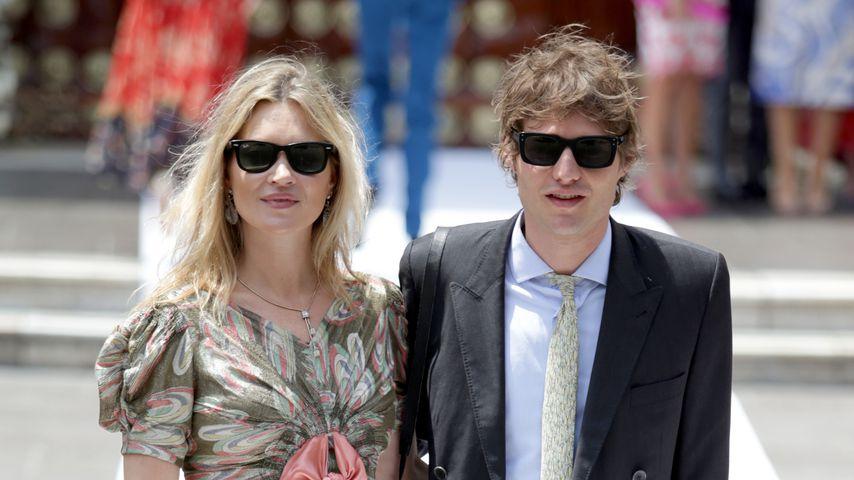 Kate Moss und Graf Nikolai von Bismarck im März 2018