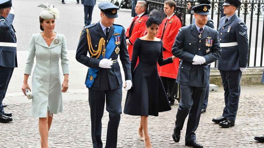 Herzogin Kate, Prinz William, Herzogin Meghan und Prinz Harry