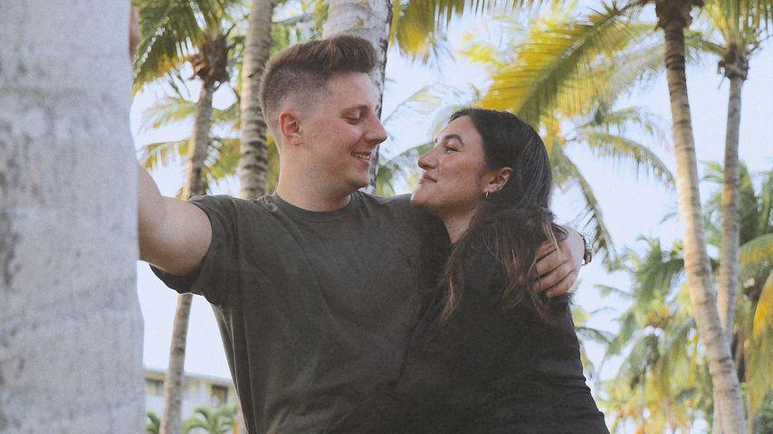 Katharina Damm mit ihrem Partner Leo