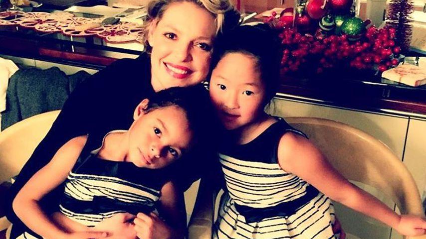 Katherine Heigl mit ihren Töchtern