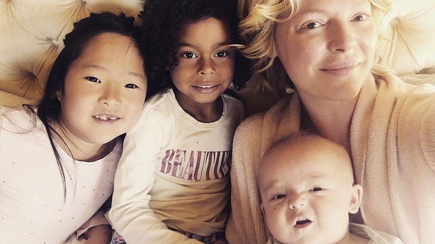 Katherine Heigl und ihre drei Kids Naleigh, Adalaide und Joshua