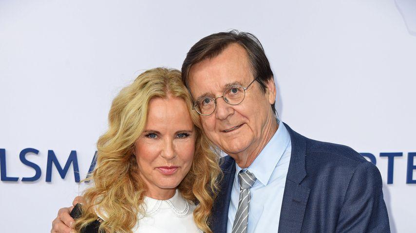 Katja Burkard und Hans Mahr auf der Bertelsmann Party 2018