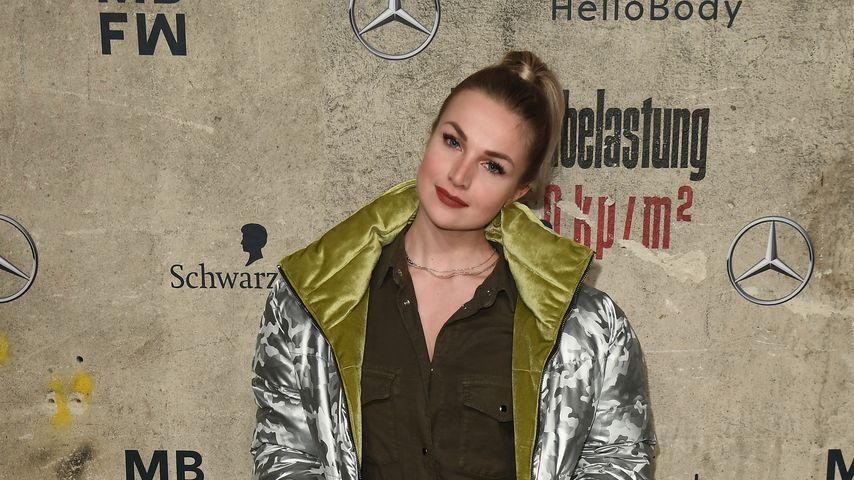Katja Kalugina bei der Mercedes-Benz Fashion Week in Berlin