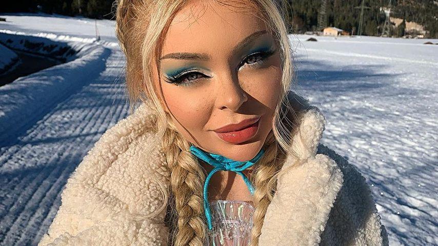 Katja Krasavice im Schnee