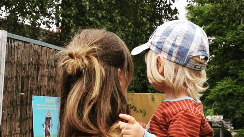 Katja Sieder mit ihrem Kind, Juli 2020