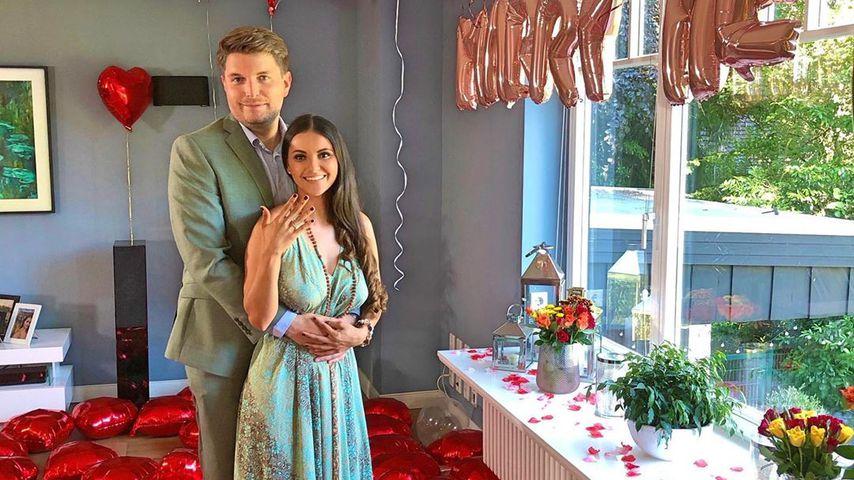 Kattia Vides und ihr Verlobter Patrick Weilbach, Juli 2020