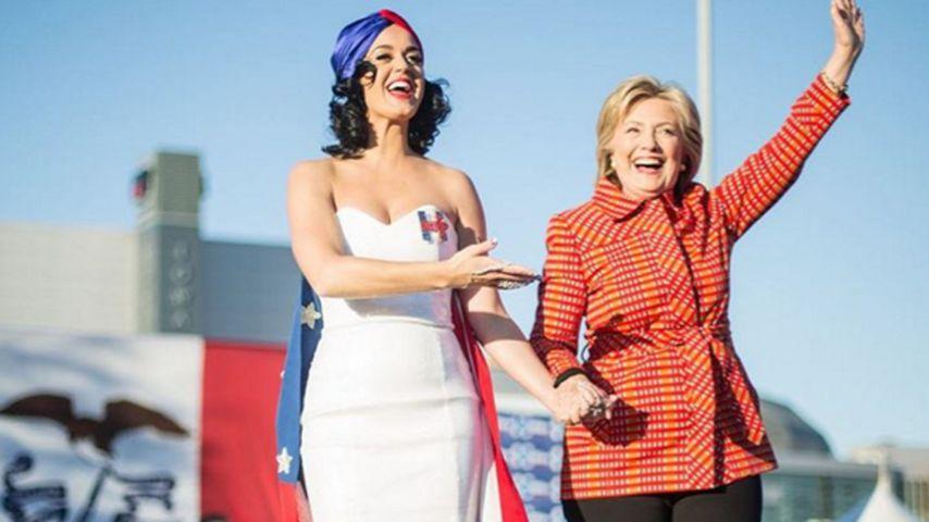 Flippiger Wahlkampf: Katy Perry unterstützt Hillary Clinton!