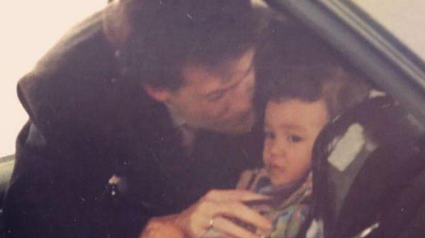 Rapper Kay One als kleiner Junge mit seinem Vater