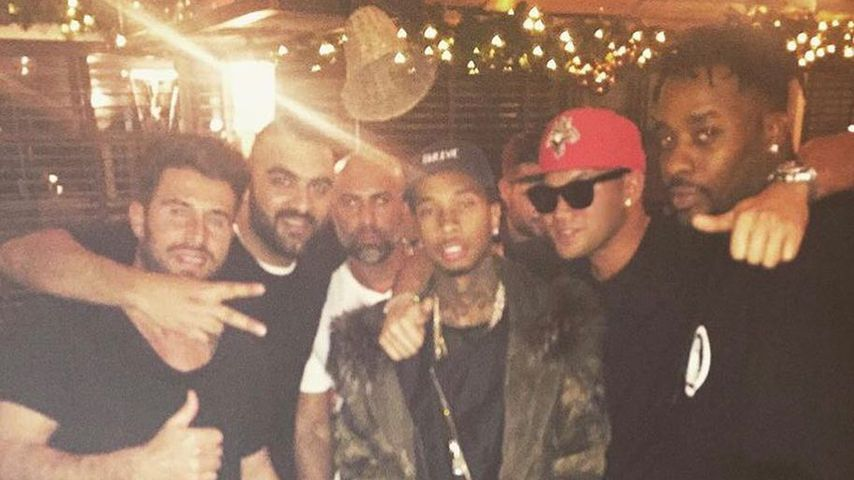 Kay One mit US-Rapper Tyga und weiteren Bekannten