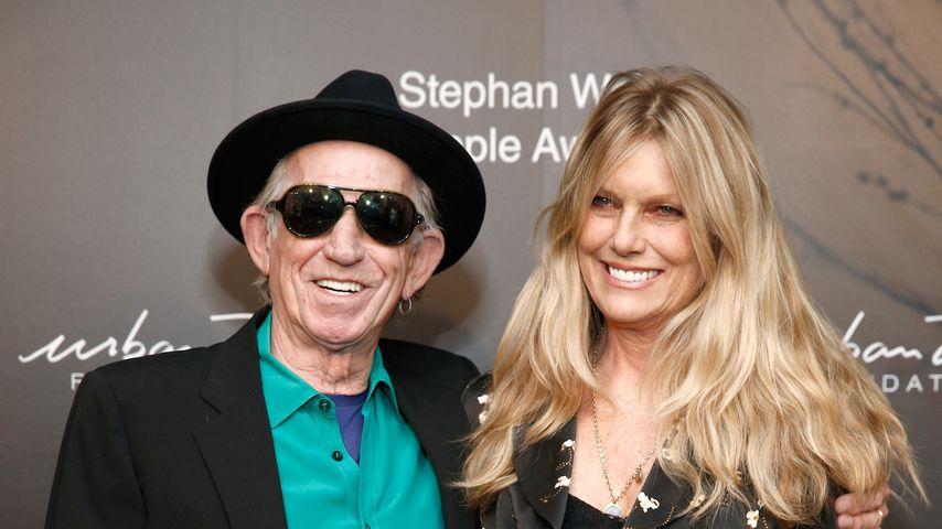 Keith Richards und seine Frau Patti Hansen