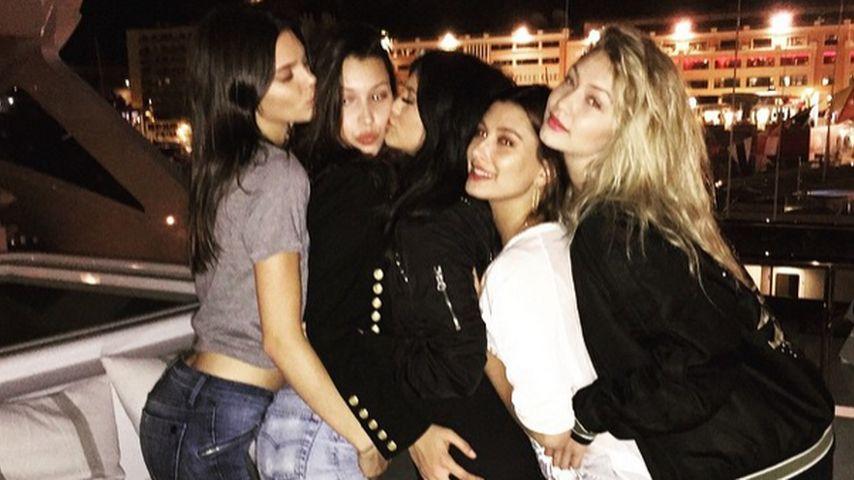 Gigi Hadid, Kylie Jenner, Kendall Jenner, Hailey Baldwin und Bella Hadid