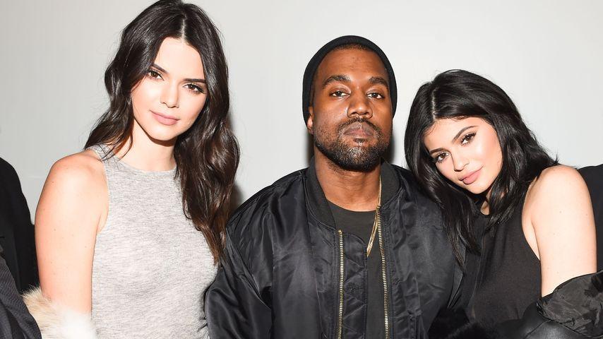 Kylie Jenner, Kanye West und Kendall Jenner