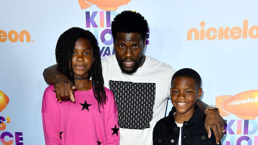 Kevin Hart und seine beiden Kinder bei den Kid's Choice Awards