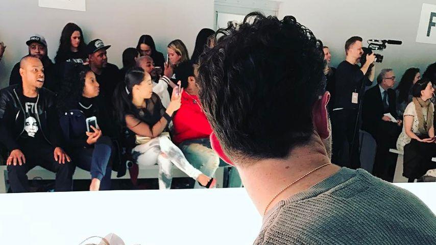 Kevin Jonas mit seiner Tochter Alena bei der New York Fashion Week 2017