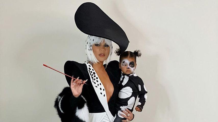 Khloe Kardashian mit Tochter True, Halloween 2019