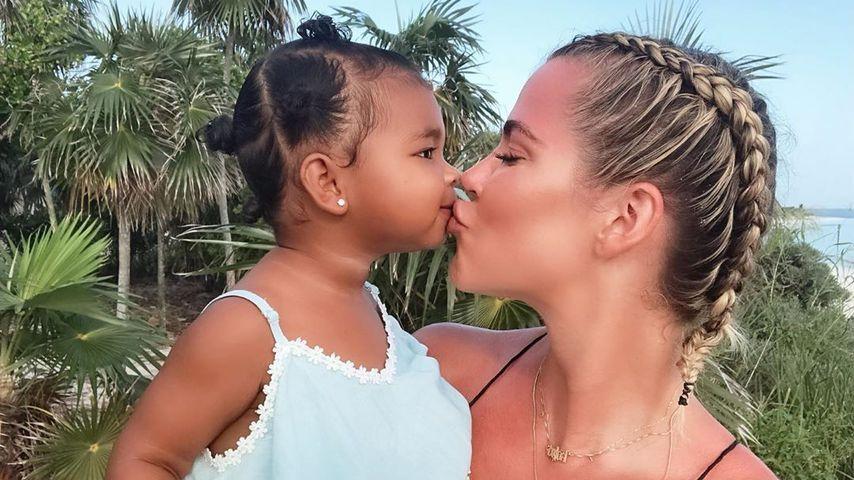 Khloe Kardashian mit ihrer Tochter, Oktober 2019