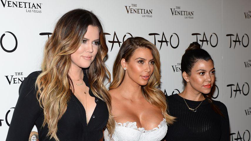 Khloe, Kim und Kourtney Kardashian bei Kims Geburtstagsparty 2013