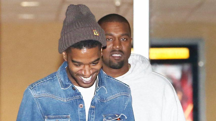 Kid Cudi und Kanye West in Los Angeles