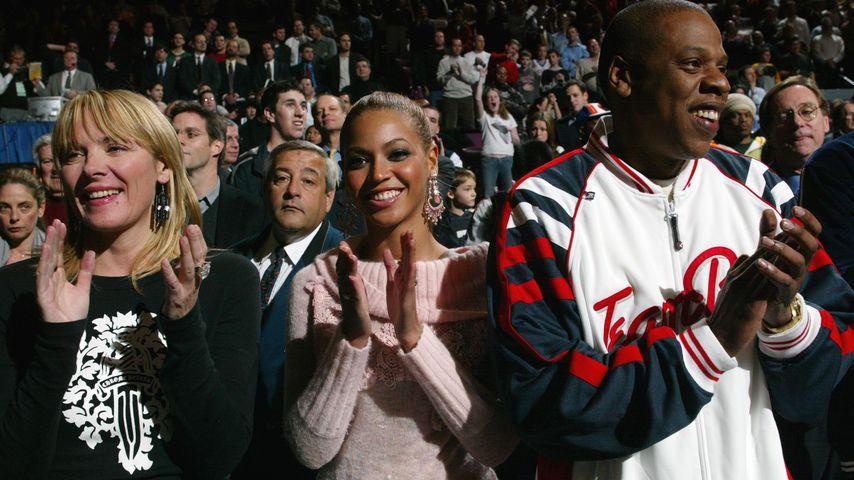 Kim Cattrall, Beyoncé und Jay-Z 2004 in New York