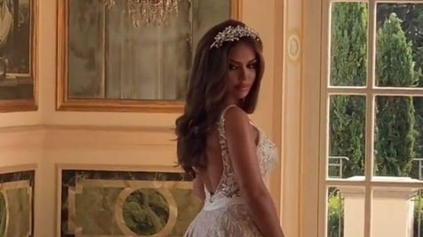 Kim Gloss in ihrem zweiten Brautkleid