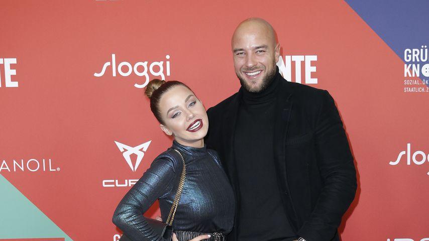 Kim Gloss und ihr Verlobter Alex beim New Faces Award Style