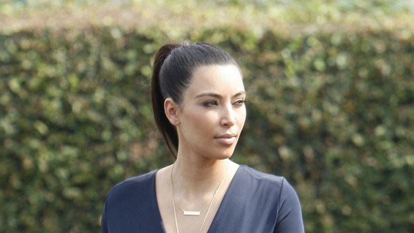 Aua! Kim Kardashian: Aufgeschürfte Stelle am Bein
