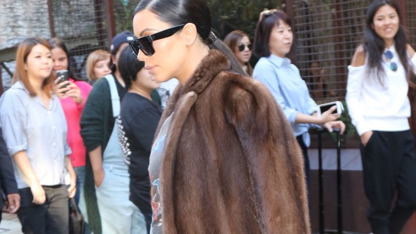 Pelz trotz Mega-Hitze! Schwitzt Kim Kardashian nicht?