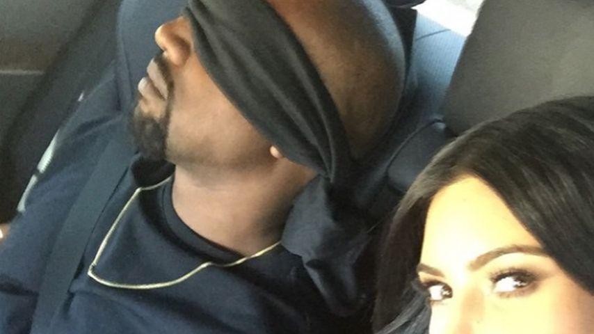 Verbundene Augen! So überrascht Kim ihren Kanye zum B-Day