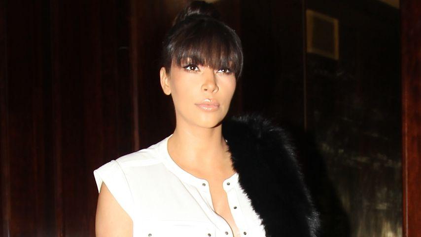 Trotz Bäuchlein: Kim Kardashians super Leder-Look