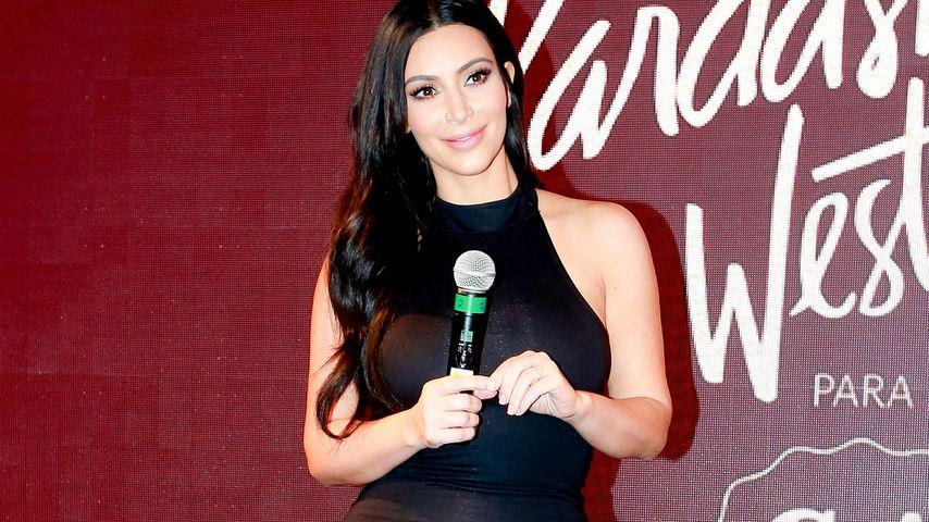 Kim Kardashian: Sieht man hier schon einen Babybauch?