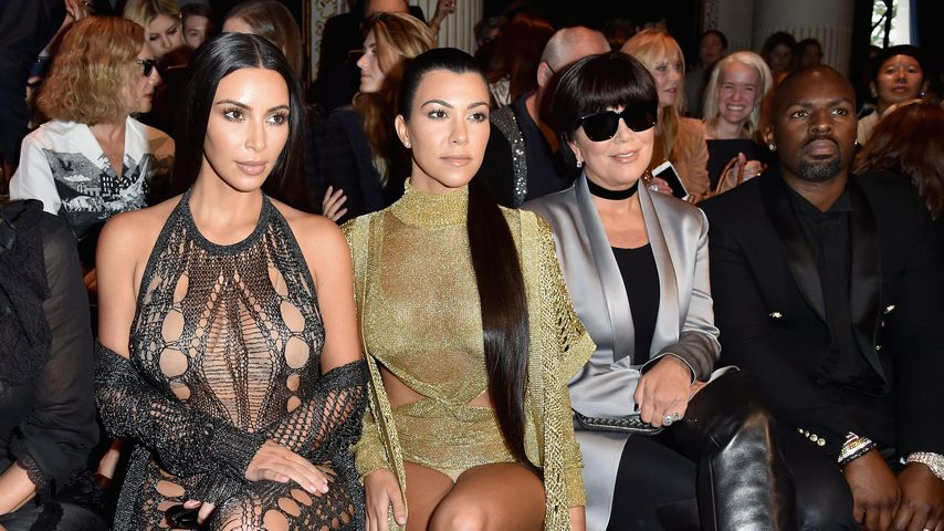 Kim und Kourtney Kardashian mit Kris Jenner in Paris
