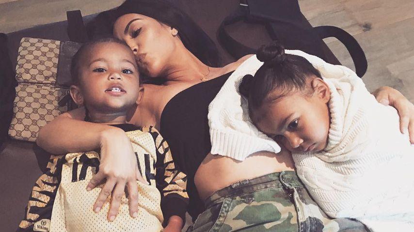 Saint West, Kim Kardashian und North West